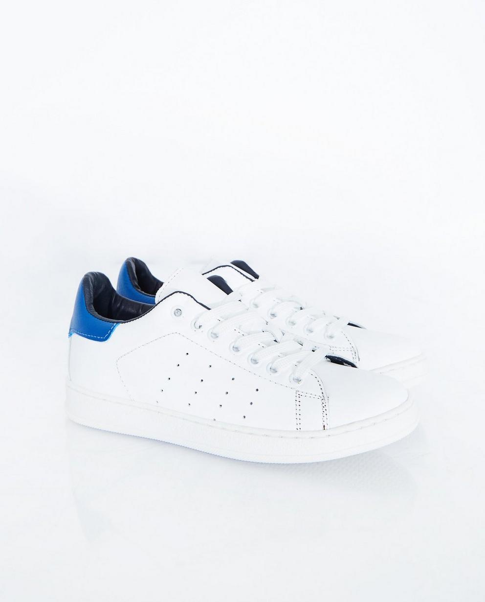 Witte sneakers - met blauw detail - JBC